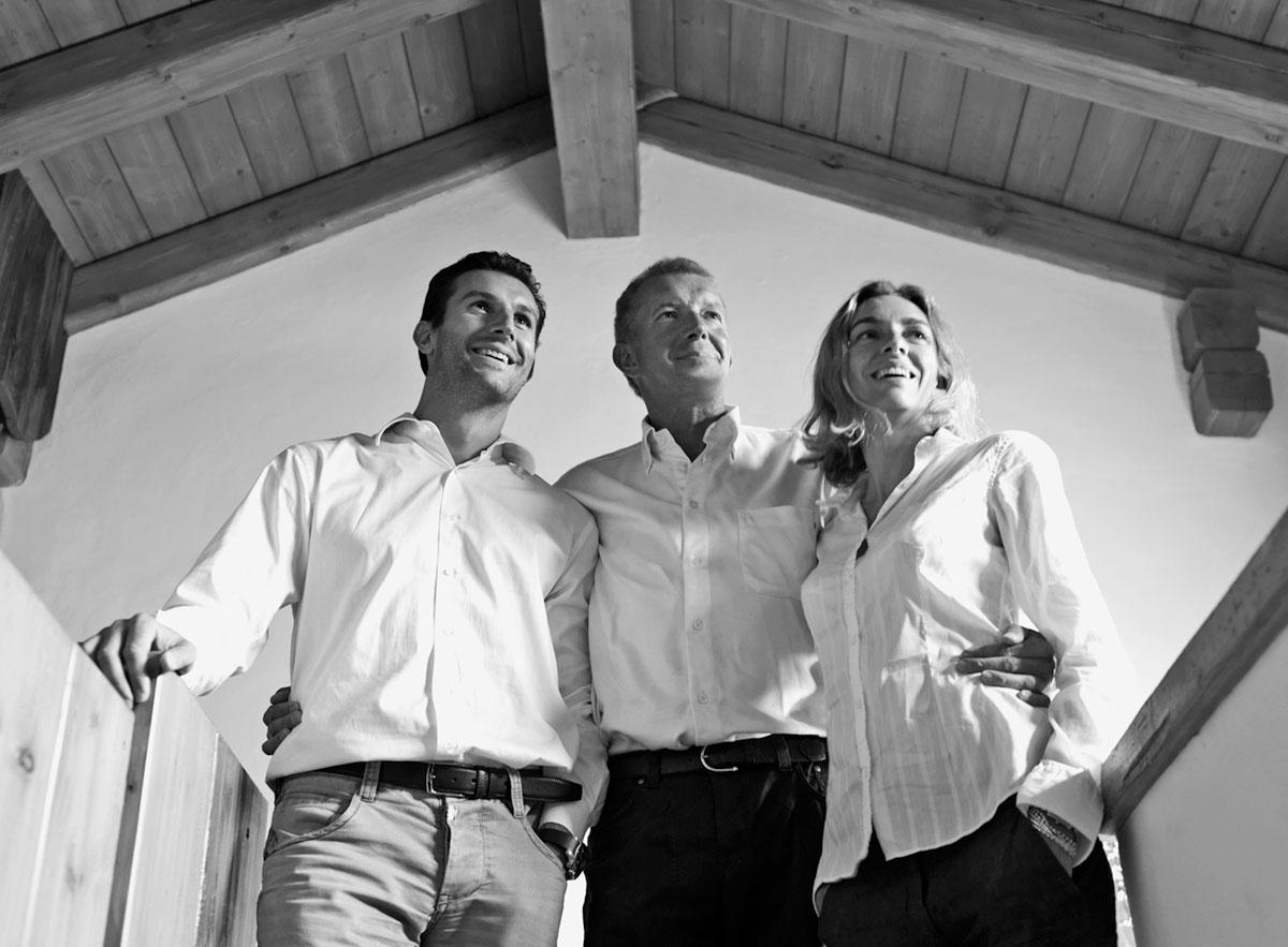 Jacopo, Silvio e Valentina Bernardi